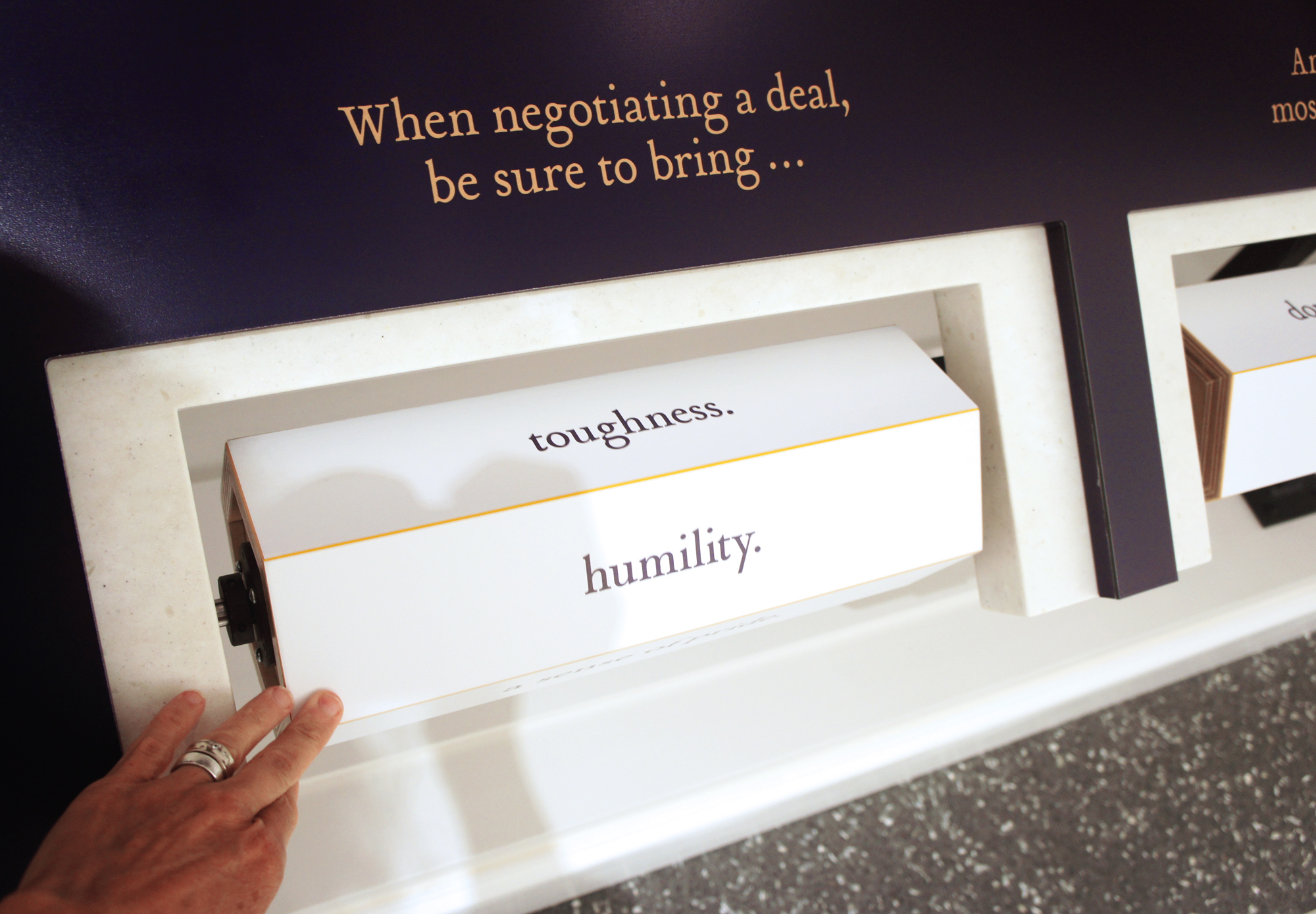 Custom interactive displays that are tamper proof yet touchable.