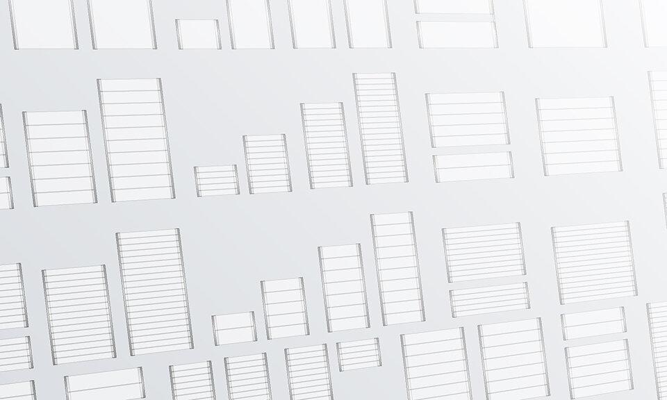 Line art depicting endless Lucid configuration options