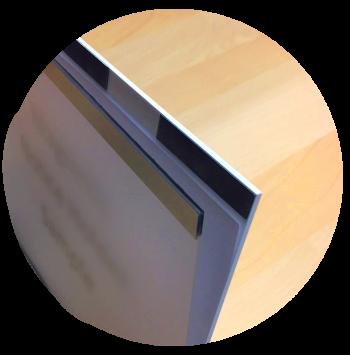 Magnetic closure detail on Takeform's Notice Holder