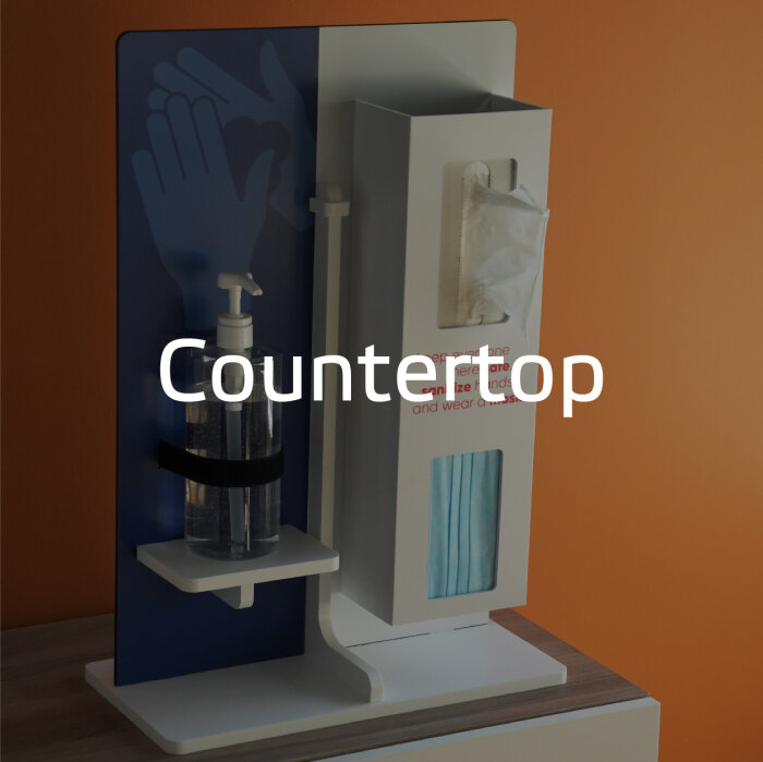 Countertop mounted PPE by Takeform