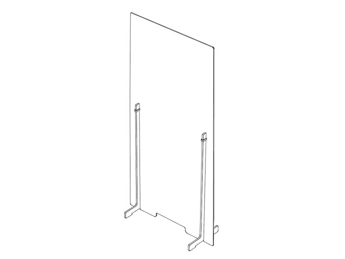 Freestanding protective floor-mounted partition